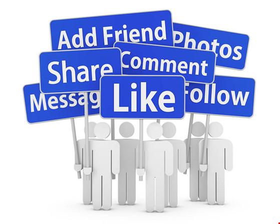 tương tác facebok